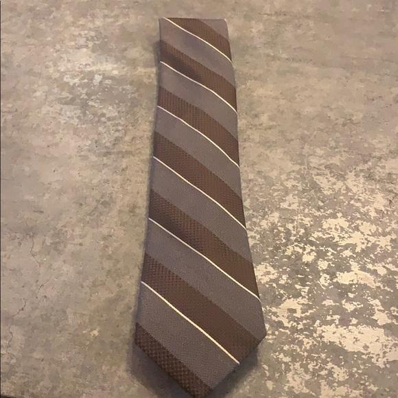 Michael Kors Brown Stripe Tie